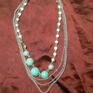 Lucky brand 4 strand turquoise necklace